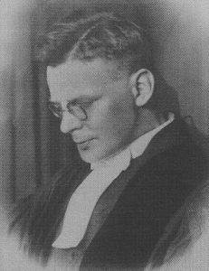 Ds. H. Veldkamp (), de eerste predikant van Onderdendam (foto: 100 jaar GK Onderdendam).