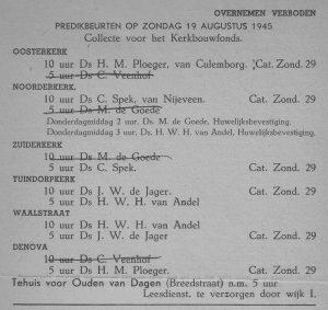 De nog snel even aangepaste Utrechtsche Kerkbode.