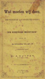 Het boekje van dr. A. Kuyper.