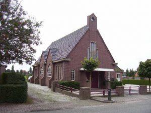 De gereformeerde kerk van Meeuwen.