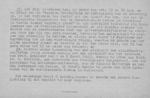 De brief van de generale synode over de schorsing van dr. K. Schilder.