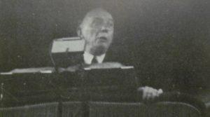 Prof. dr. K. Schilder op de Vrijmaingsvergadering in Den Haag.