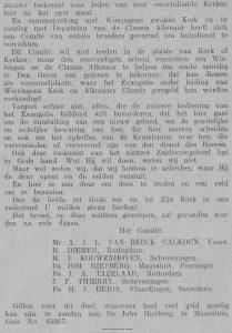 'De Reformatie' van 15 juni 1928.