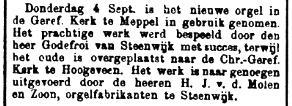 'De Standaard', 12 september 1913.