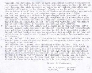 De uitleg van de kerkenraad van 5 oktober 1944.