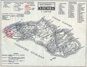 Zendingskaart van Soemnba, een bekend zendingsgebied van de Gereformeerde Kekren.