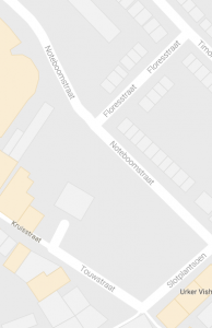 Het gebied tussen de Touwstraat en de Noteboomstraat.