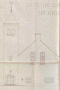 Zo zou de verbouwde synagoge er uit zien, gezien vanaf de Noteboomstraat.