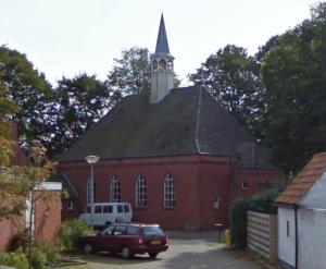 De voormalig gereformeerde kerk te Woldendorp (Gr.).